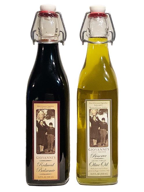 Reserve Olive Oil and Reduced Balsamic Gift Set  16.9 oz/ .5 ltr