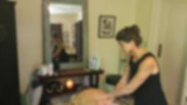 Dana Eakins of Myofascial Healing in Hendersonville NC performing Myofascial Release