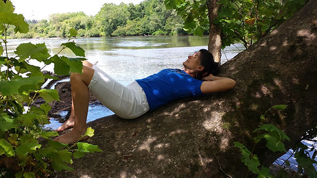 Dana Eakins of Myofascial Healing on the French Broad River in Asheville NC