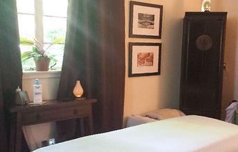 Dana Eakins' relaxing Myofascial Healing office for Myofascial Release Therapy