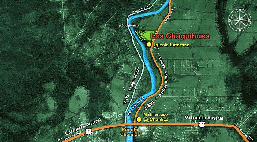 Plano de Ubicacion Local Condominio Eco-Patrimonial Los Chaquihues de Chamiza
