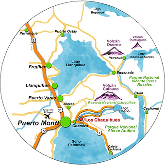 Plano de Ubicacion Provicial Condominio Eco-Patrimonial Los Chaquihues de Chamiza