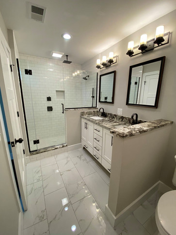 Willow Master Bath with Tile Shower