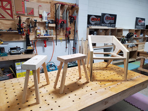 Modern Dining Chair with Handmade Stools