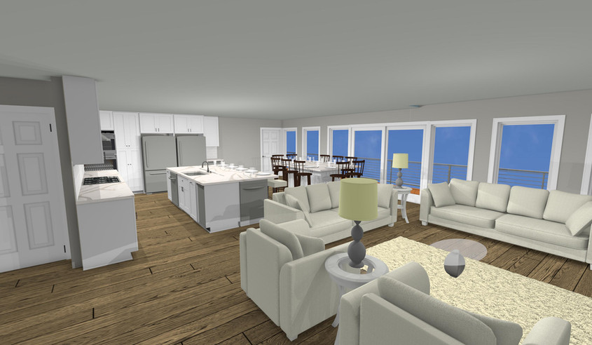 Open Concept Living and Dinning Design