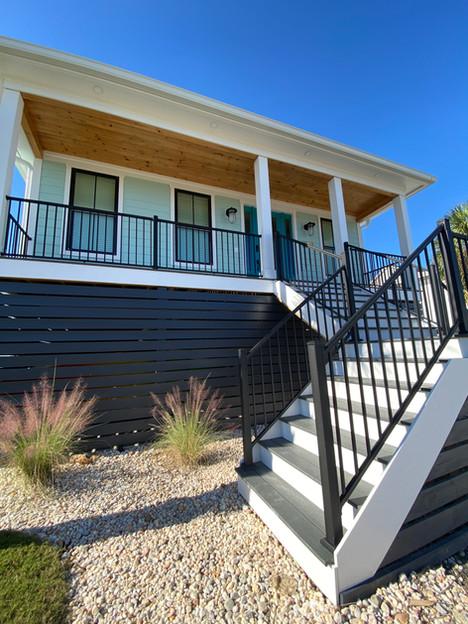 Raised Beach House Stairway