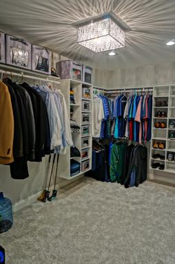 Custom Designed Walkin Closet
