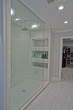 Modern White Walk-in Shower