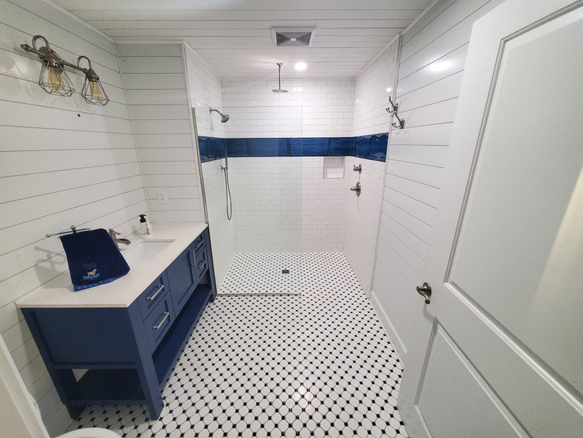 Curbless Accessible bathroom & Tile Shower