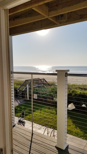Ocean Front Outdoor Deck w/ Cable Railings