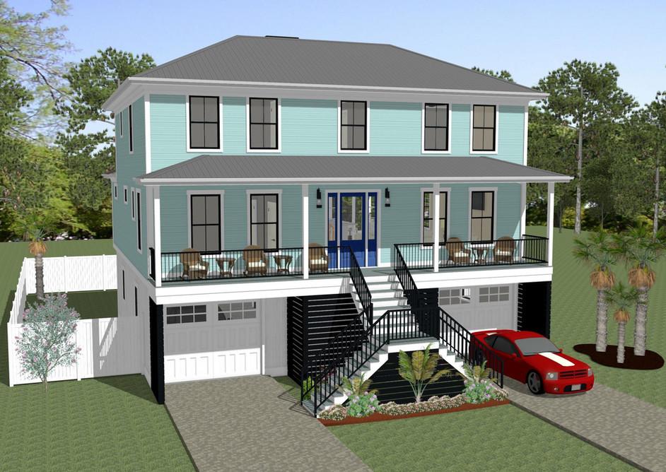 Custom Home Design Rendering