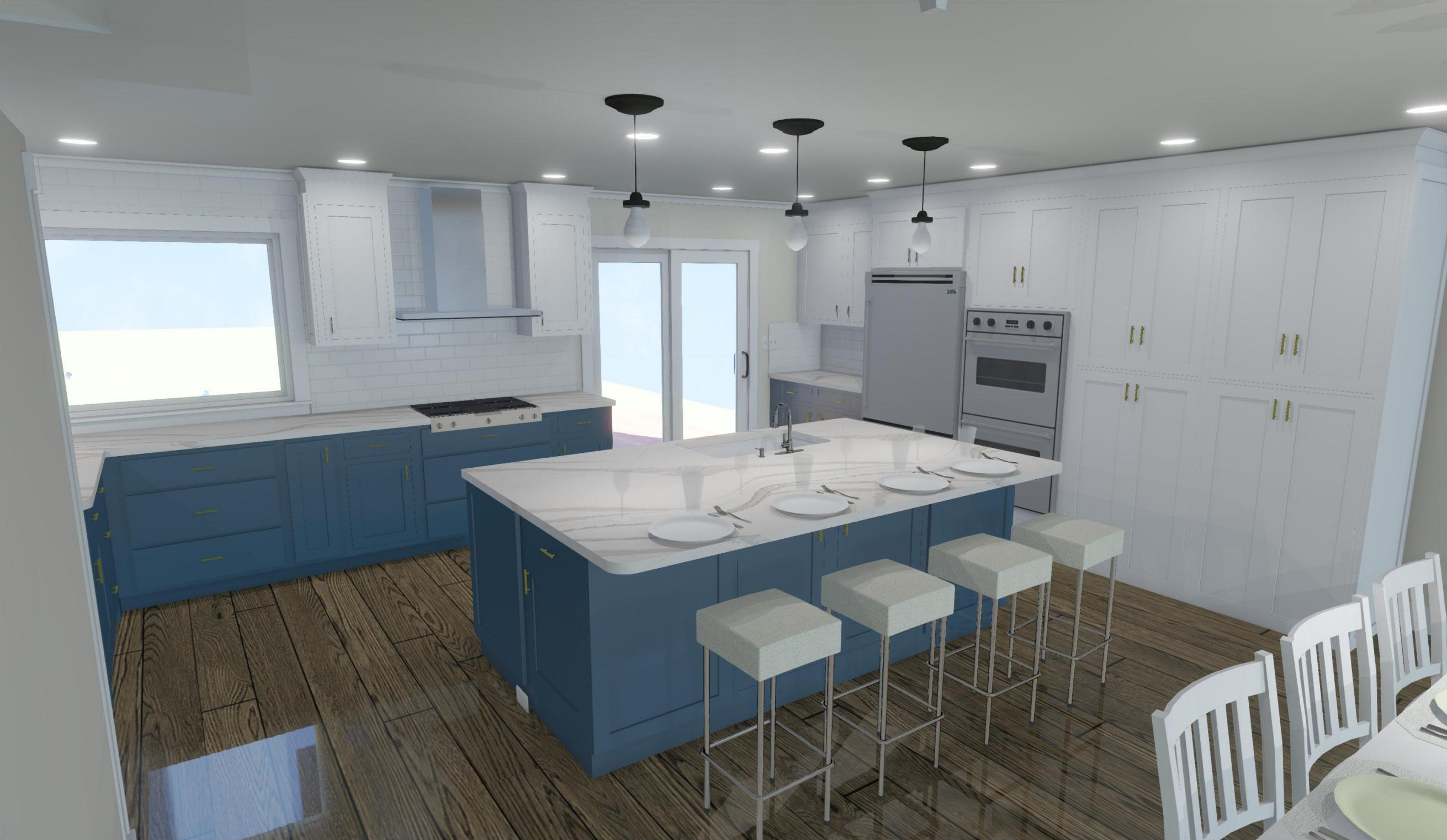 Custom Kitchen Rendering Surfside Beach
