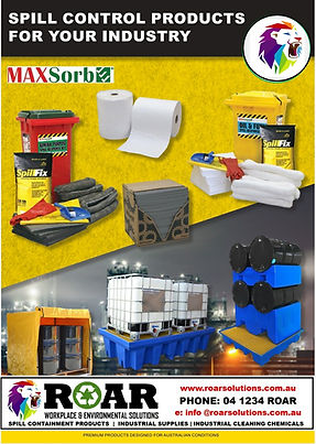ROAR - MAX SPILL PRODUCTS - CATALOGUE -