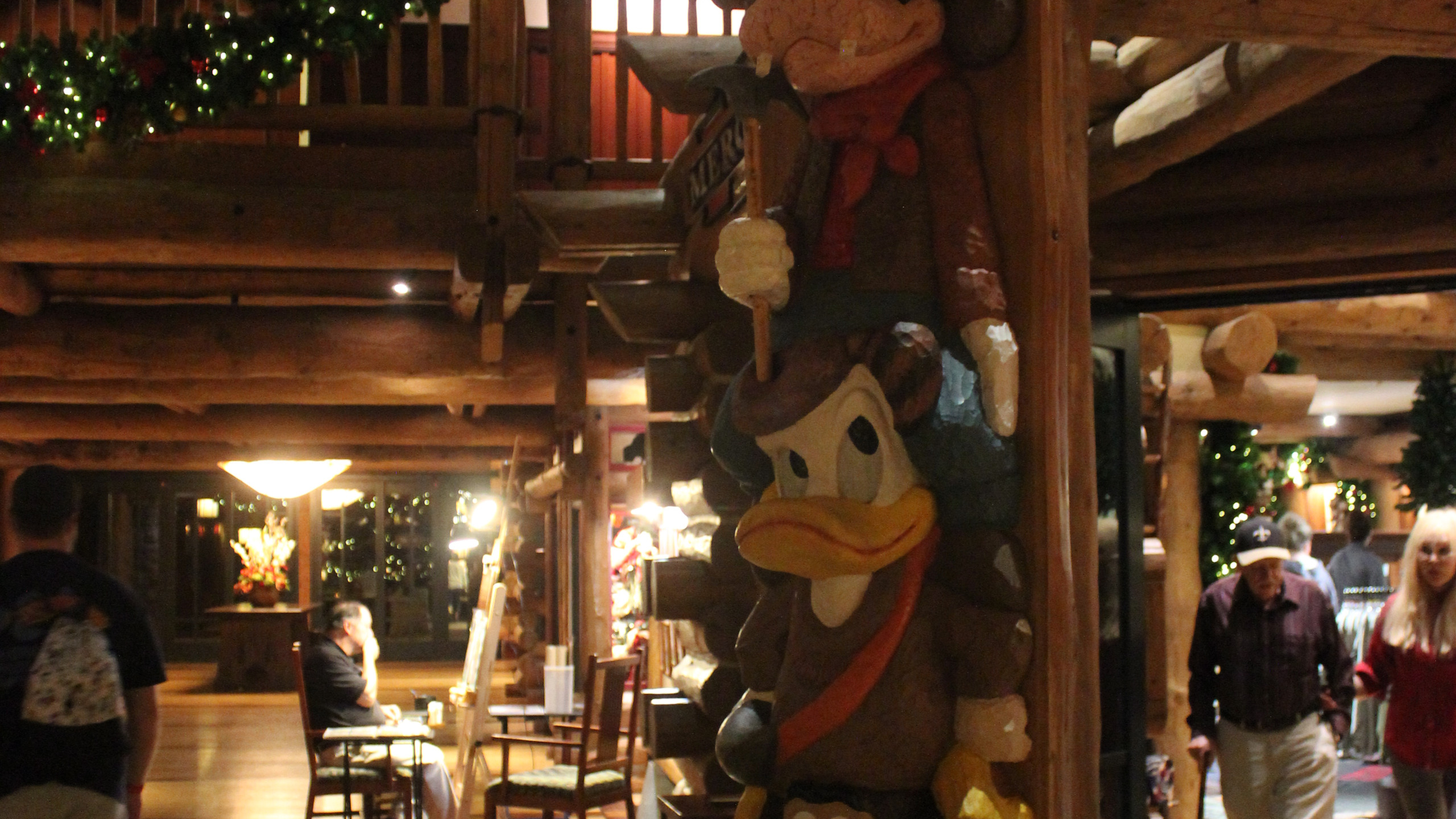 Totem pole at Disney's Wilderness Lodge in Orlando, FL