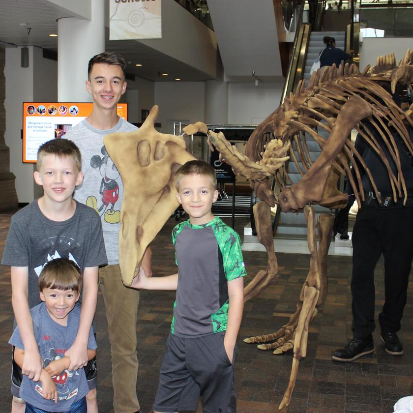 Denver Museum of Nature and Science Man in Dinosaur Costume
