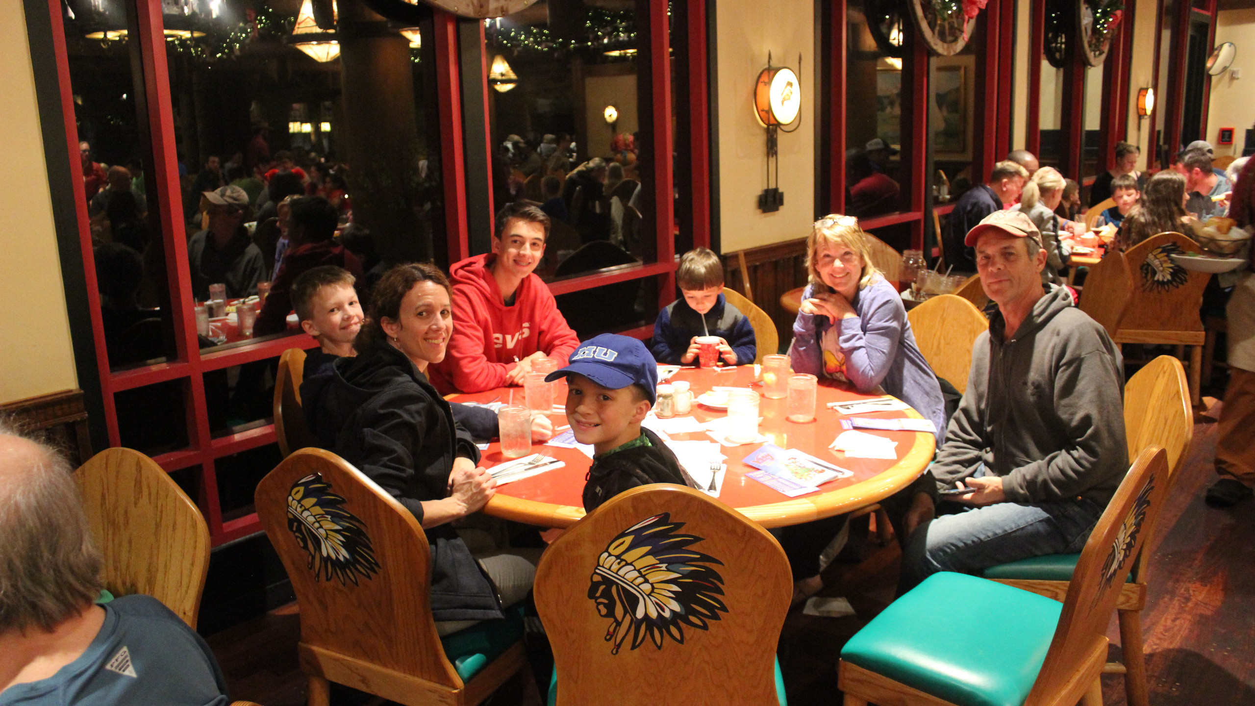 Eating at Whispering Canyon Cafe at Disney's Wilderness Lodge