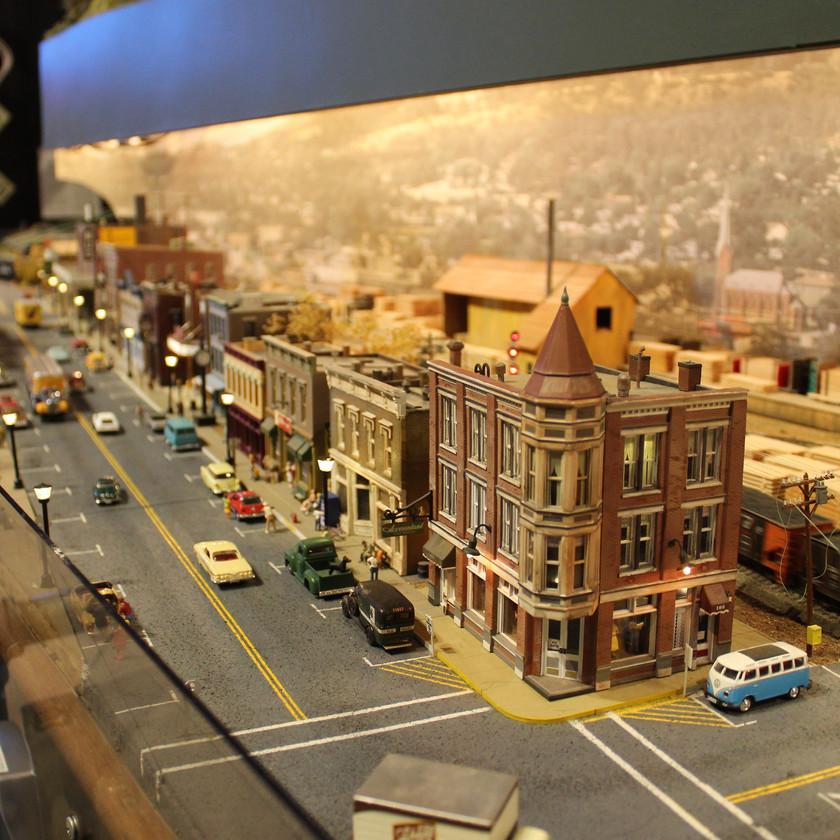 Colorado Railroad Museum in Greeley Colorado Main Street Display