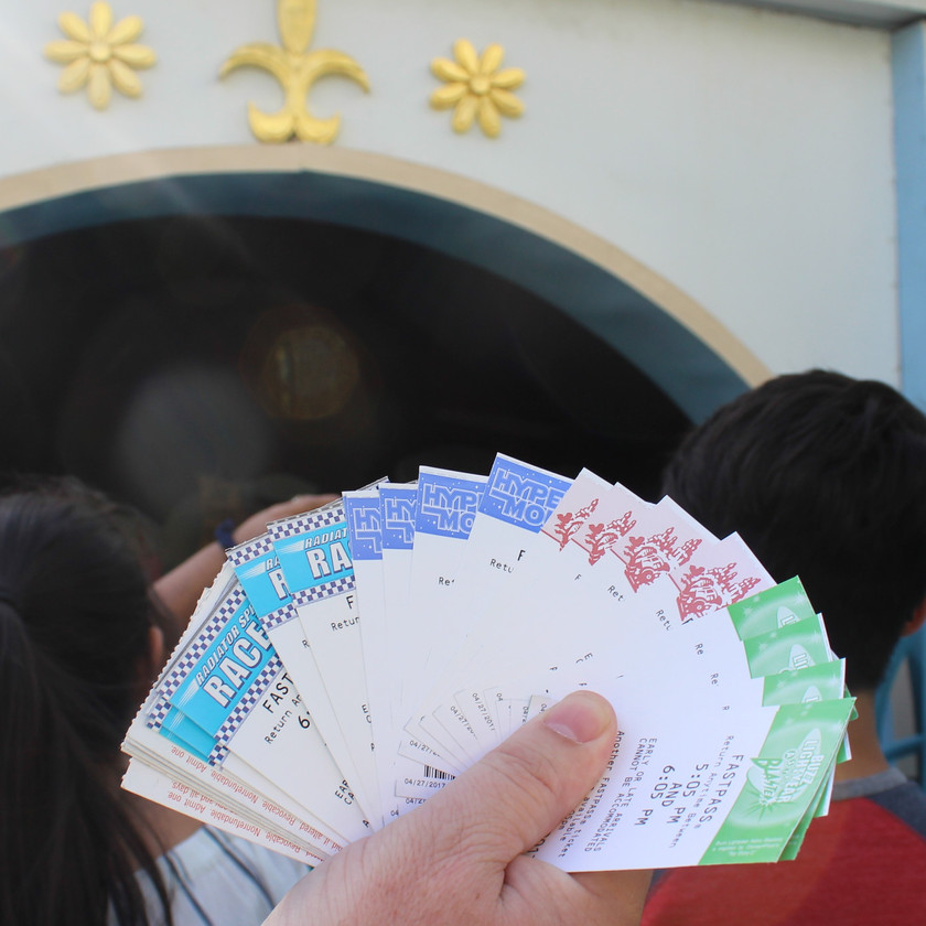Paper Fastpasses at Disneyland