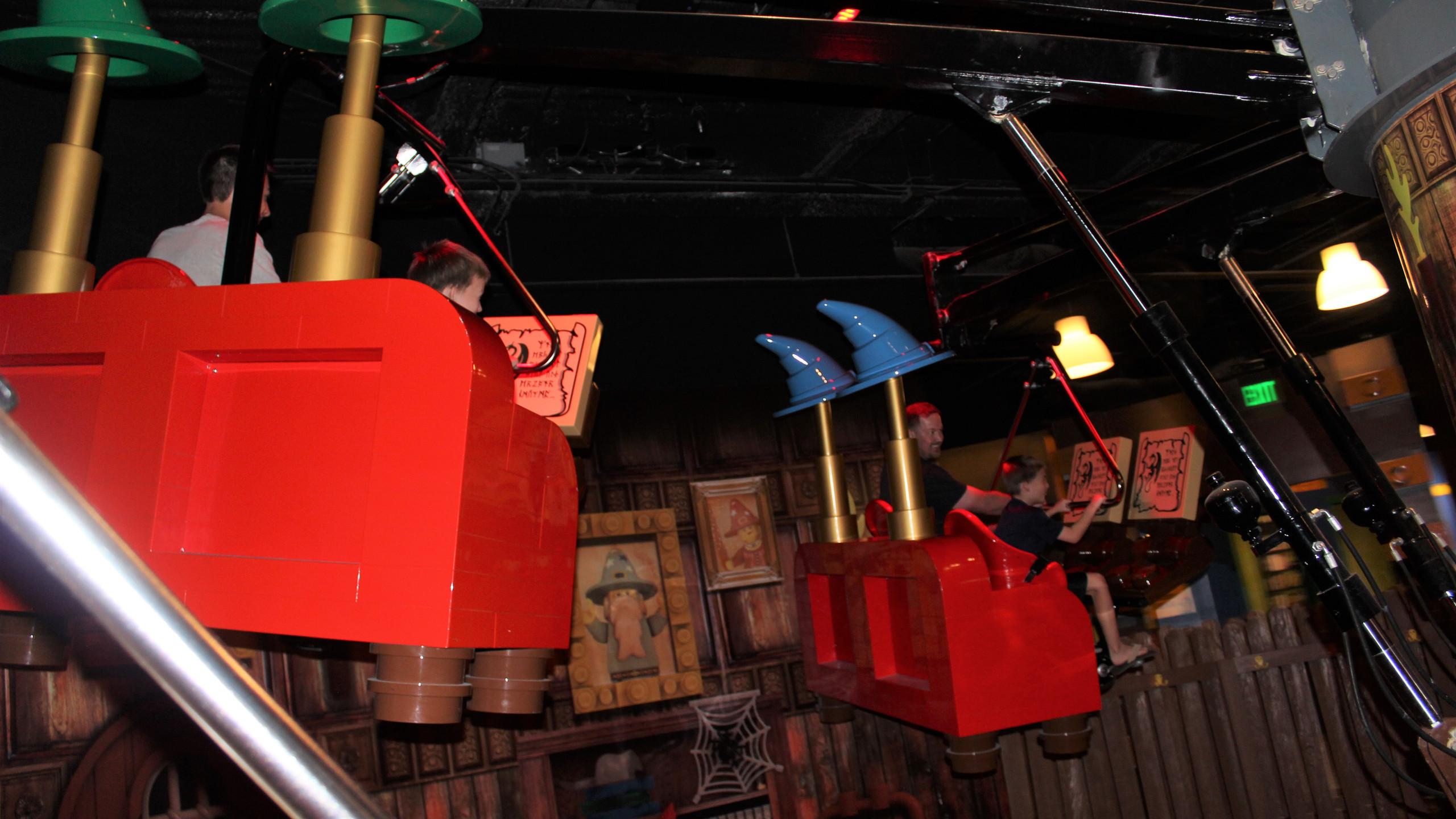 Merlin's Apprentice Flying Ride at LEGOLAND Discovery Center in Kansas City