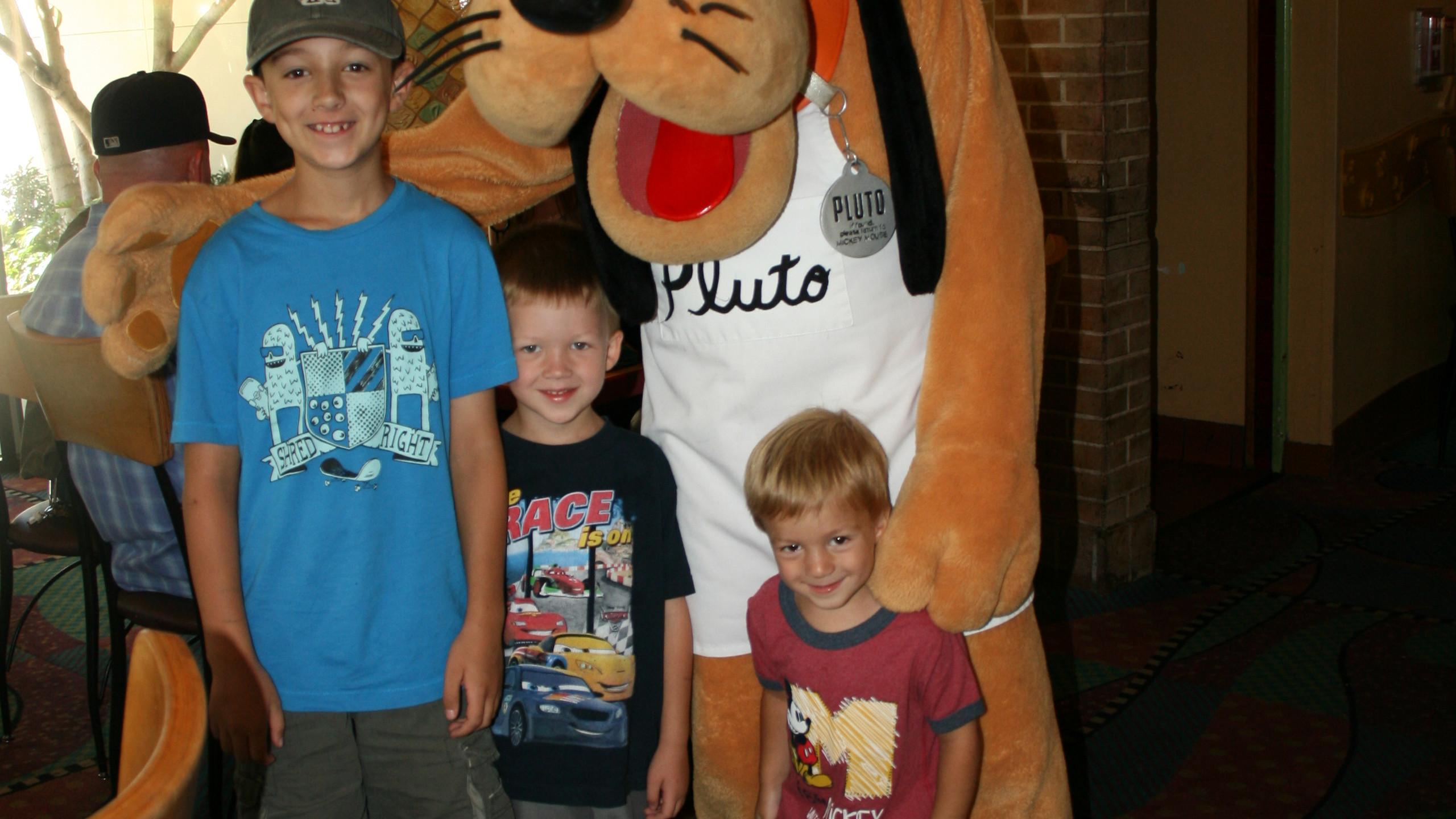 Goofy's Kitchen Gregg boys with Pluto