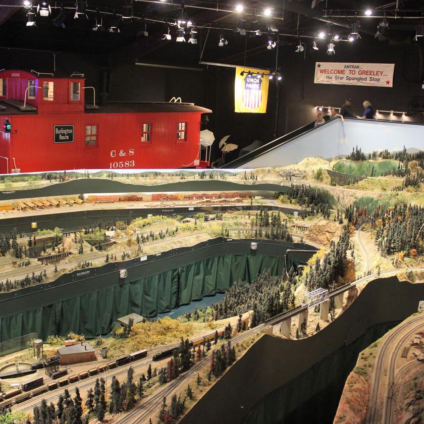 Colorado Model Railroad Museum in Greeley Colorado Caboose on Display