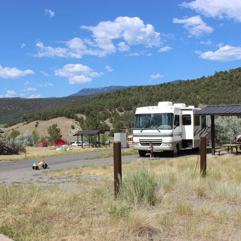 RV site at Ridgway State Park