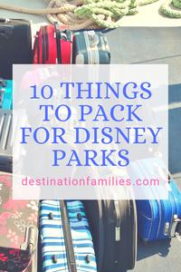 What to bring to Disneyland or Disney World