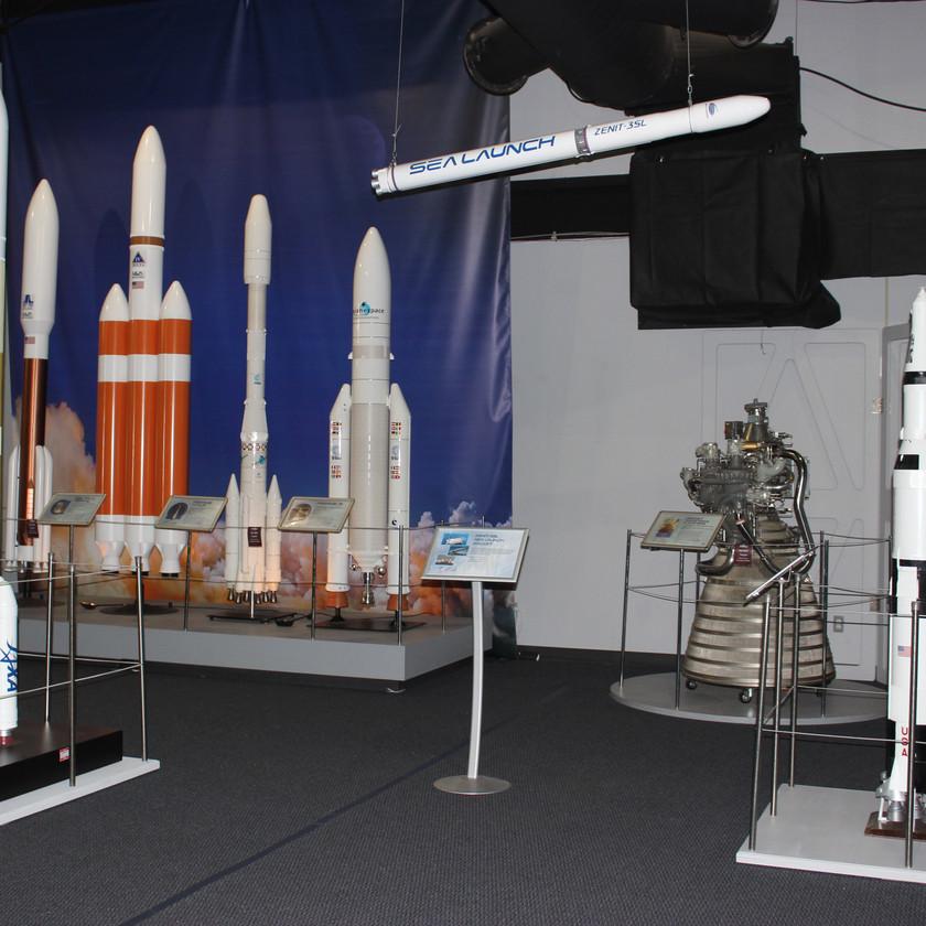 Colorado Space Museum Rocket Display