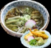 山菜そばと天ぷらうどん