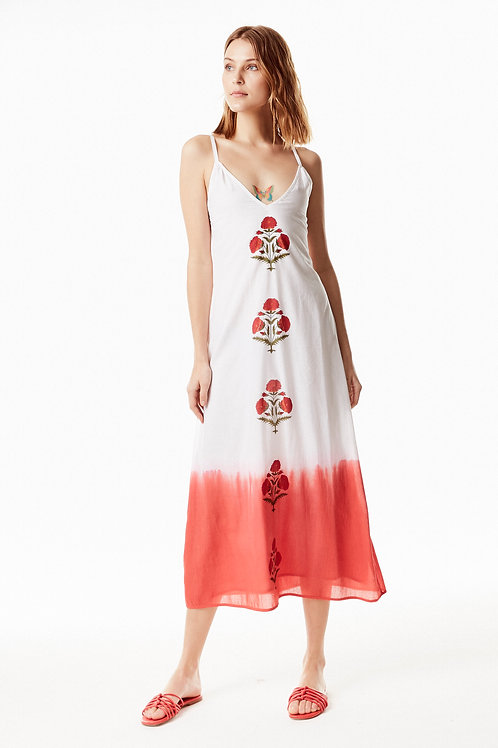 Bombay Slip Dress - Poppy (Flame)
