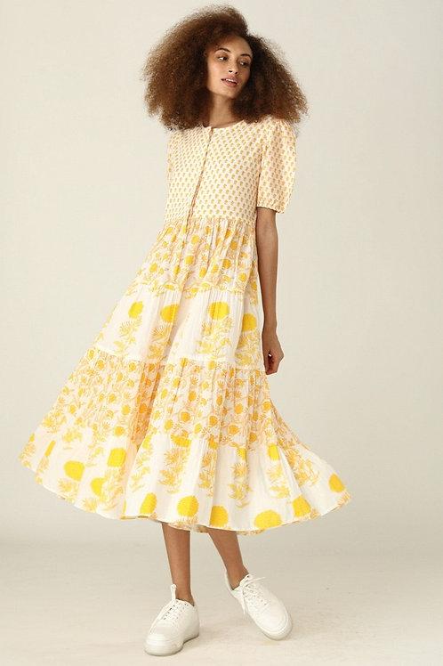 Daphne Dress - Nuni (Pink and Yellow)
