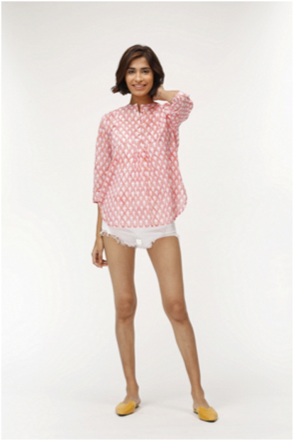Dixie Top - Paula (Pink and Blue)