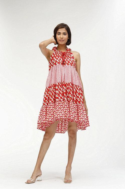 Short Sofia Dress - Phoenix (Red)