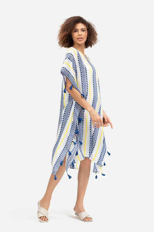 Mali Kaftan - Blue Stripes