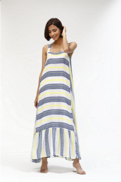 Freida Dress - Woven Stripes
