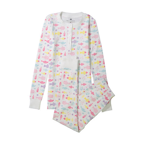 Pippa Women's Pajamas (Blue and Pink)