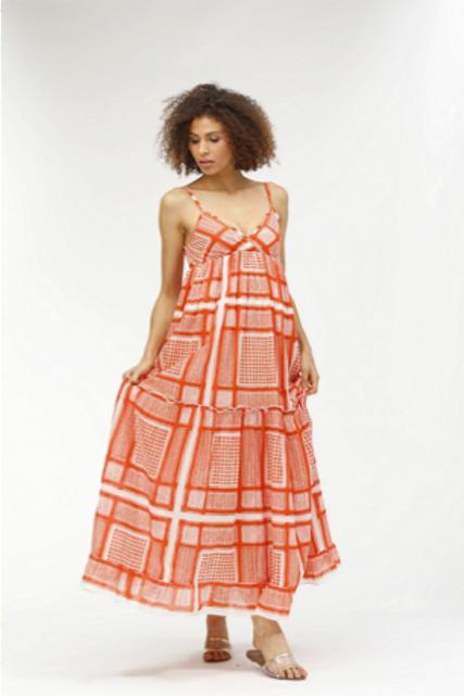 Florida Dress - Piper (Orange)