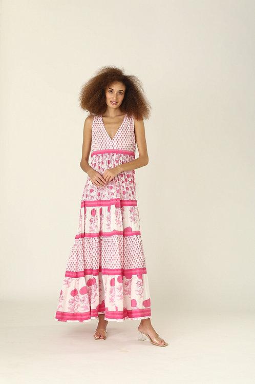 Chennai Dress - Nuni (Yellow and Pink)