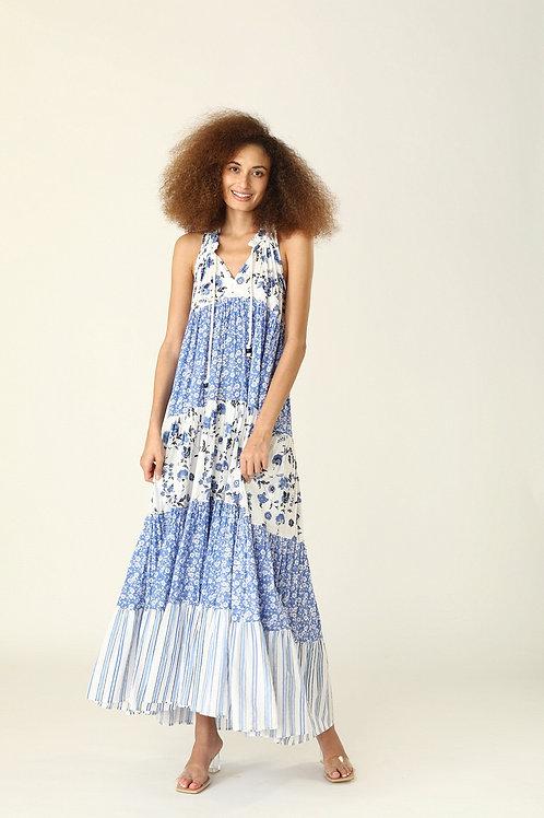 Sofia Long Dress - Provence or Gardenia