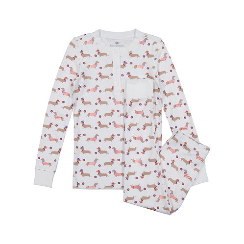 Cameron Pajama Suit (Kids) - Le Hot Dog