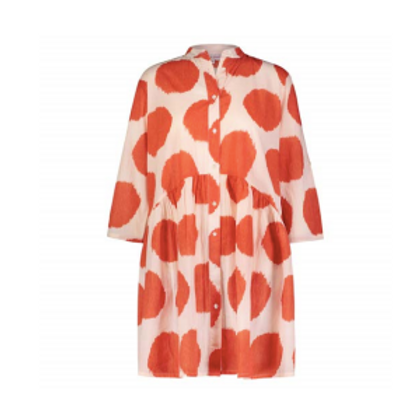 Alma Shirt Dress Grania (Coral)
