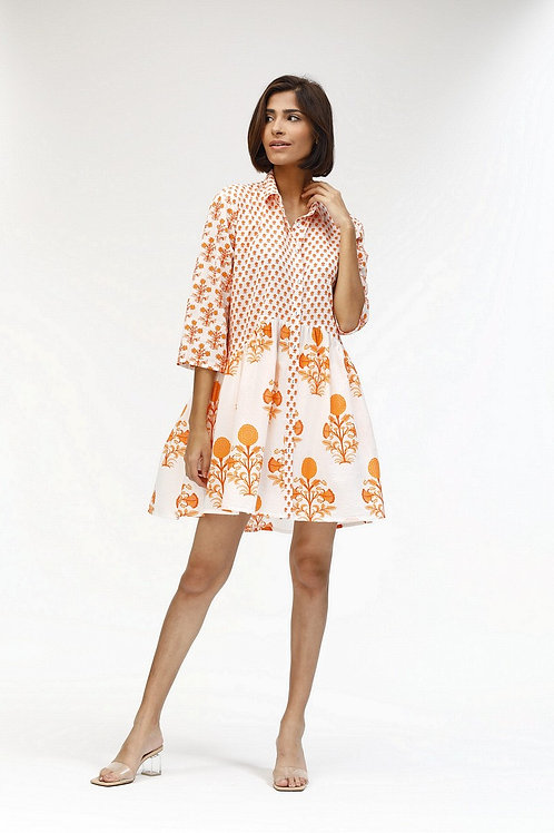 Deauville Dress - Pomme (Turquoise and Coral)