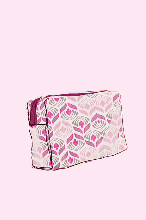 Gogo Cosmetic Pouch (medium) - Olivia Pink