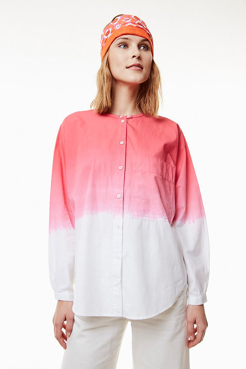 Bico Shirt - Dip Dye ( Fuscia and Blue)