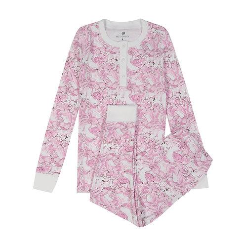 Pippa Women's Pajama Set Fancy Flamingo