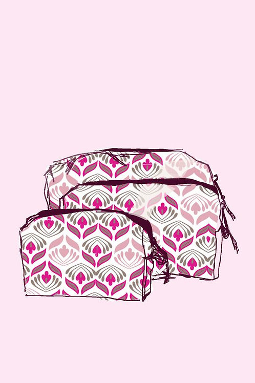 Gogo Cosmetic Pouch (large) - Olivia Pink