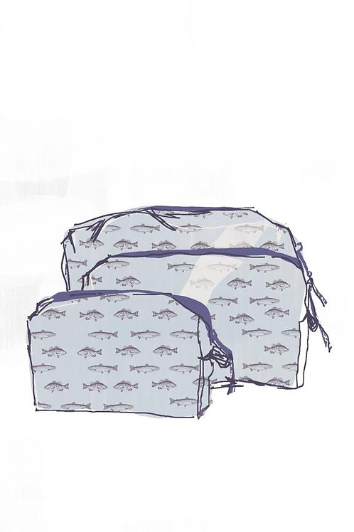 Gogo Cosmetic Pouch (large) - Ondine Navy