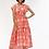 Thumbnail: Mumi Dress - Pauline (Coral and Light Blue)