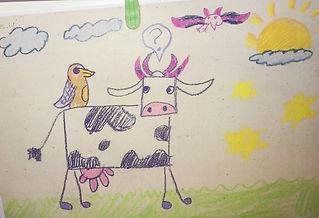 Maren med ørn, børnetegning, 1.jpg
