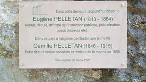 Inauguration de la plaque Eugène et Camille Pelletan